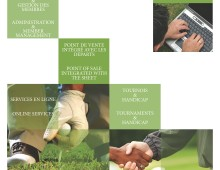 Boutique ProGolf agenda and banner design
